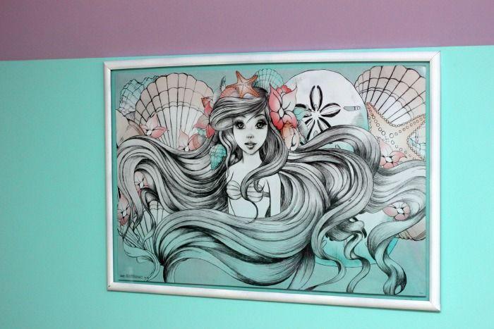 Little Mermaid Bedroom Makeover #mermaidbedroom