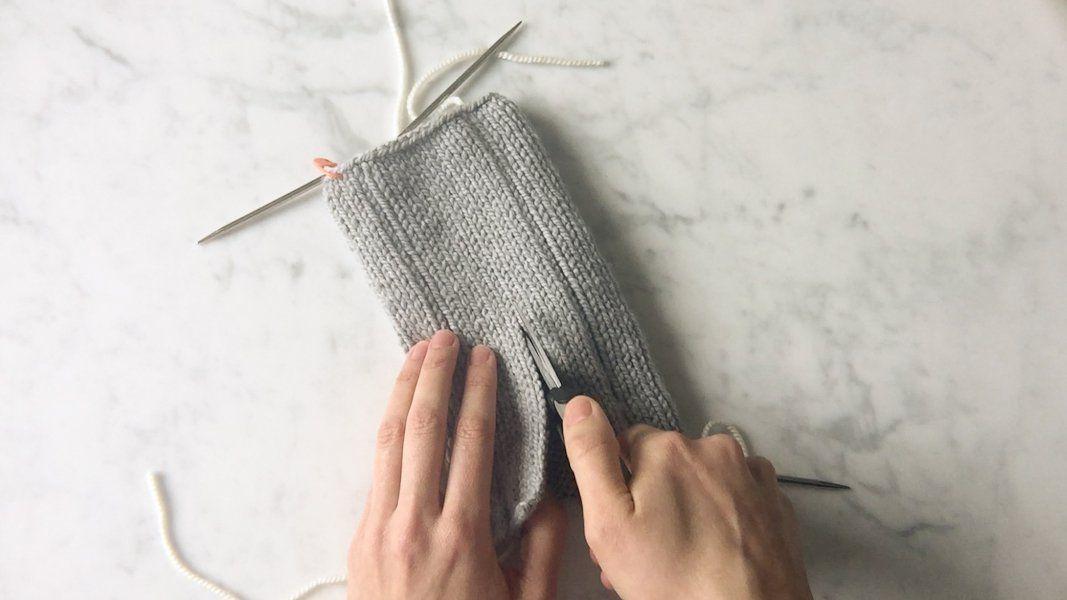 Photo of Steek med Knit Facing