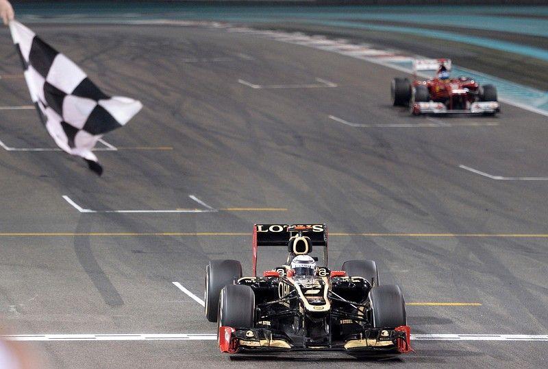Kimi Raikkonen wins ahead of Ferrari's Spanish driver