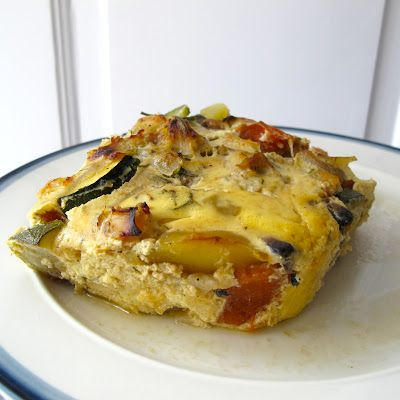 Tarte de peixe com legumes