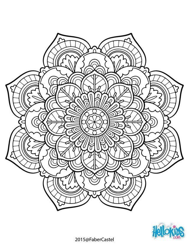 Floral Design Mandala Coloring Pages Mandala Coloring Free Online Coloring