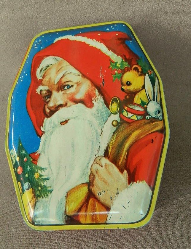 From The Old Grey Mare: British Christmas tin, Santa Claus, George Horner c. 1950