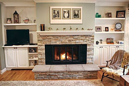 A Cheery Fireplace for $795 Fireplaces Interior This Old House