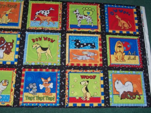 Adorable-I-Love-My-Dog-Panel-Fabric-oop-sale