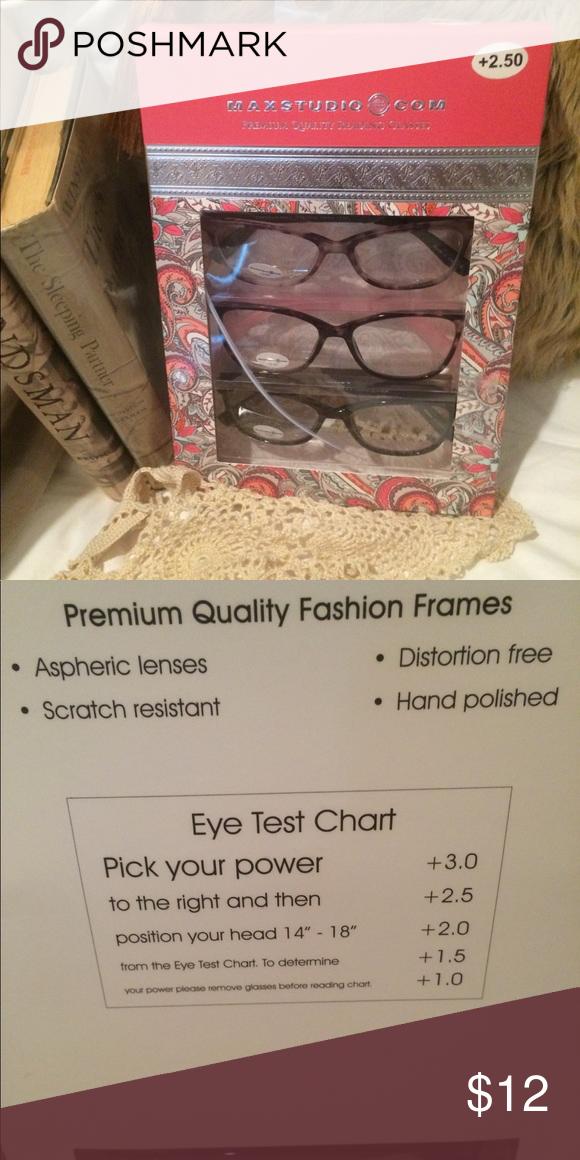 Stylish Max Studio Reading Glasses//👓//2.50💕 Stylish Max Studio Reading  Glasses//👓//2.50//💕// Three Different Beautiful Frames! Never Worn! Max  Studio ...