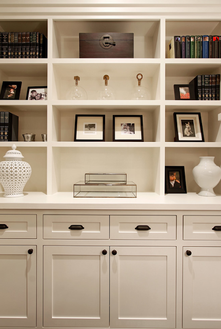 Bookcase styling. | LIVING | Built in bookcase, White ...