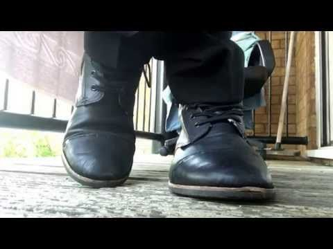 ad201229d794a Black Leather UK 9 Topman Boots   Sweaty Spotted Ted Baker Socks - YouTube