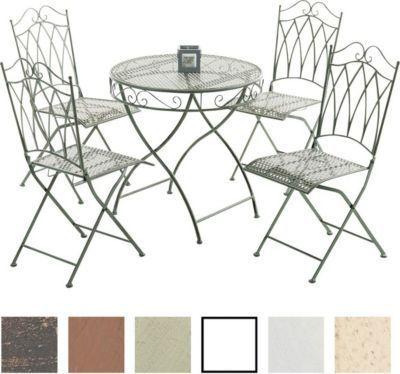 Eisen Gartenmöbel Set / Metall Garten-Sitzgruppe Lunis Jetzt