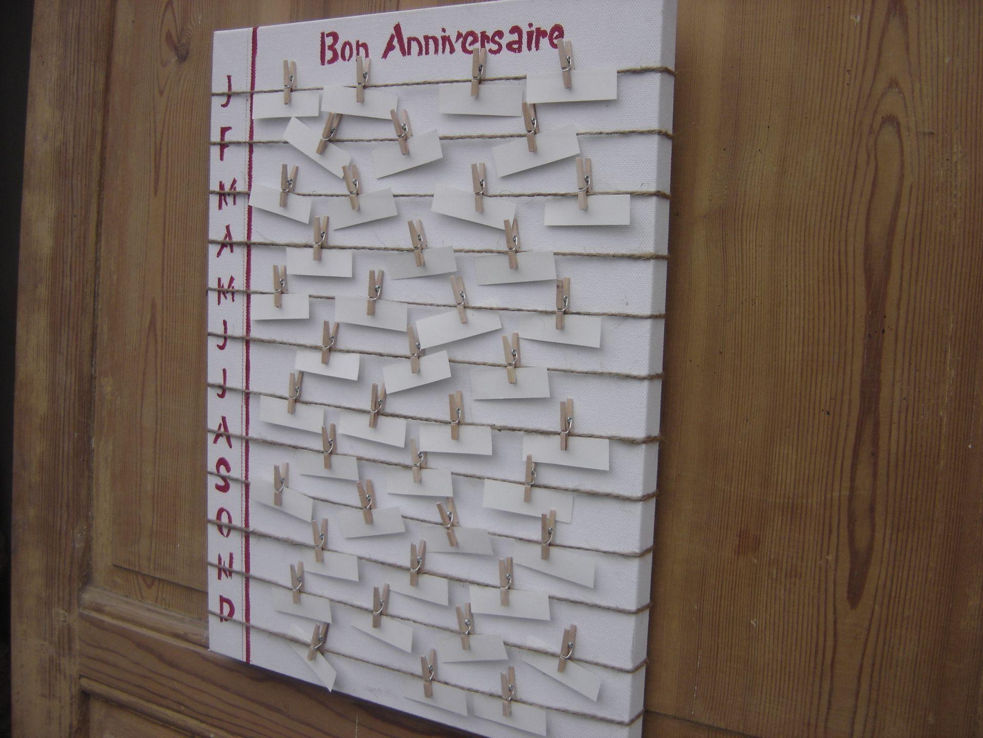 calendrier des anniversaires calendriers perpetuels anniversaires et de l avant. Black Bedroom Furniture Sets. Home Design Ideas