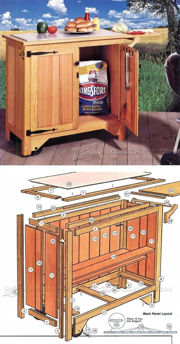 Barbecue cart plans outdoor furniture plans u projects