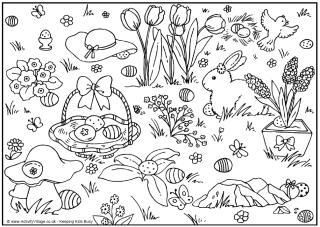 easter colouring pages - Activity Village Coloring Pages