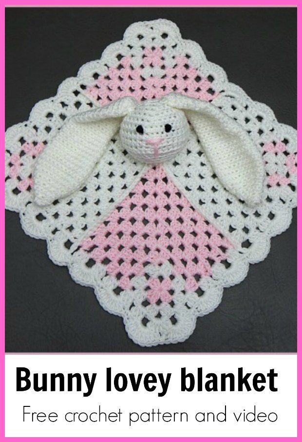 Baby Security Blanket Bunny Crochet Pattern | Baby | Pinterest ...
