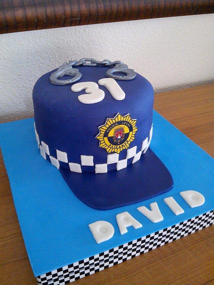 Tarta Cumpleaños Policía Diseños De Tartas Tartas Tarta De Cumpleaños