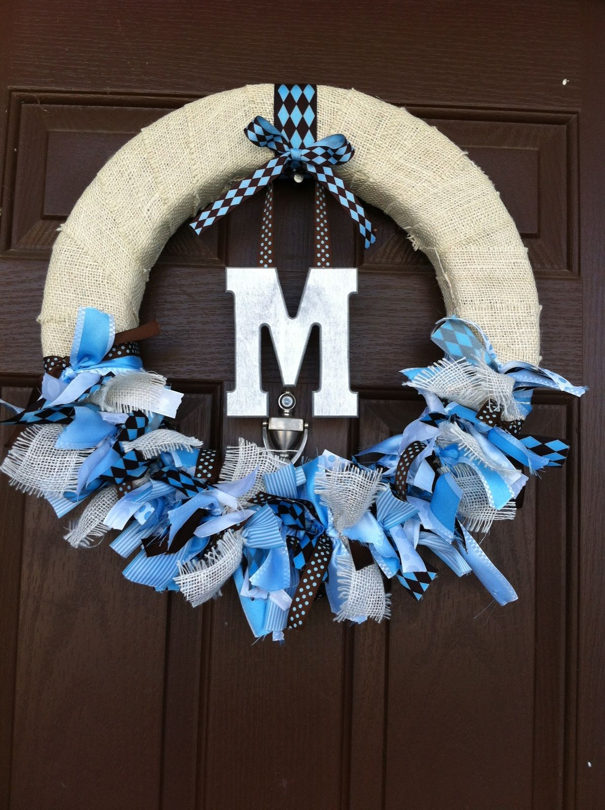 Made this wreath for my sister's baby shower.