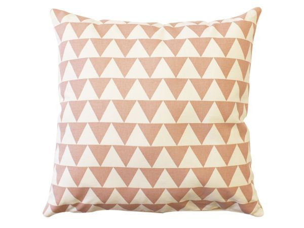 Zana Screen Printed Cotton Small Pink Triangle Print Cushion Cover - In 2012, mother and daughter team Sue and Robyn Britz came together to start Zana. Together with their small team, the Britz duo hand make all products at their studio in Woodstock, making theirs a truly South African brand. Their fun and graphic take on products for the home and kitchen make them a firm favourite of designers all across the globe.