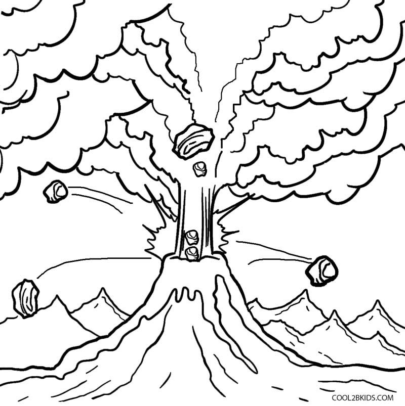 Printable Volcano Coloring Pages For Kids Cool2bkids Coloring Pages Coloring Pages For Kids Coloring For Kids