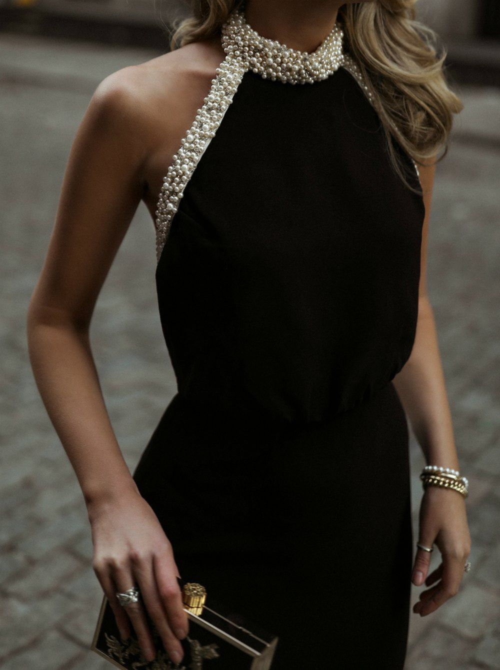 30 Dresses 30 Days Day 17 Corporate Charity Black Backless Gown With A Glamorous Pearl Encrusted Halter Neck Black Fashion Backless Gown Backless Dress [ 1340 x 1000 Pixel ]