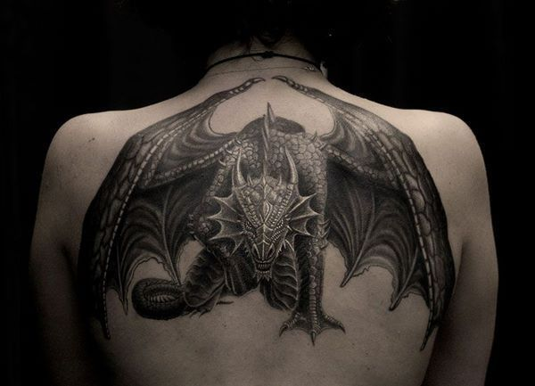 Unique Dragon Tattoo Design On Back Back Tattoos Design Ideas Men Women In 2020 Dragon Tattoos For Men Dragon Tattoo For Women Dragon Tattoo