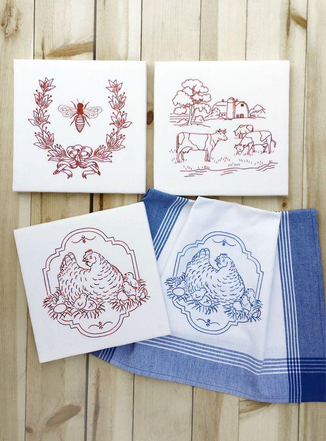 Farm Fresh Set Three | Embroidery | Pinterest