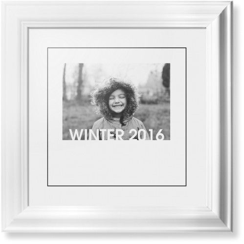 Standout type gallery framed print white classic black white single piece