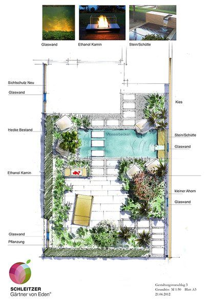 sketch garden G  plan Pinterest - Dessiner Plan De Maison