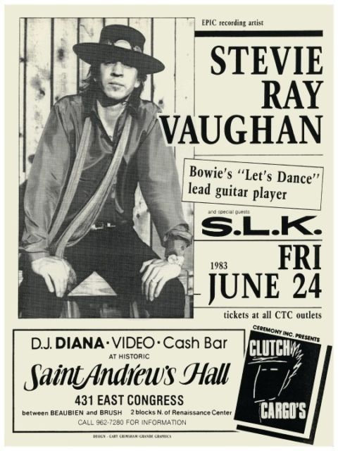 stevie ray vaughan concert ad rock n 39 roll memorabilia in 2019 stevie ray ray vaughan. Black Bedroom Furniture Sets. Home Design Ideas