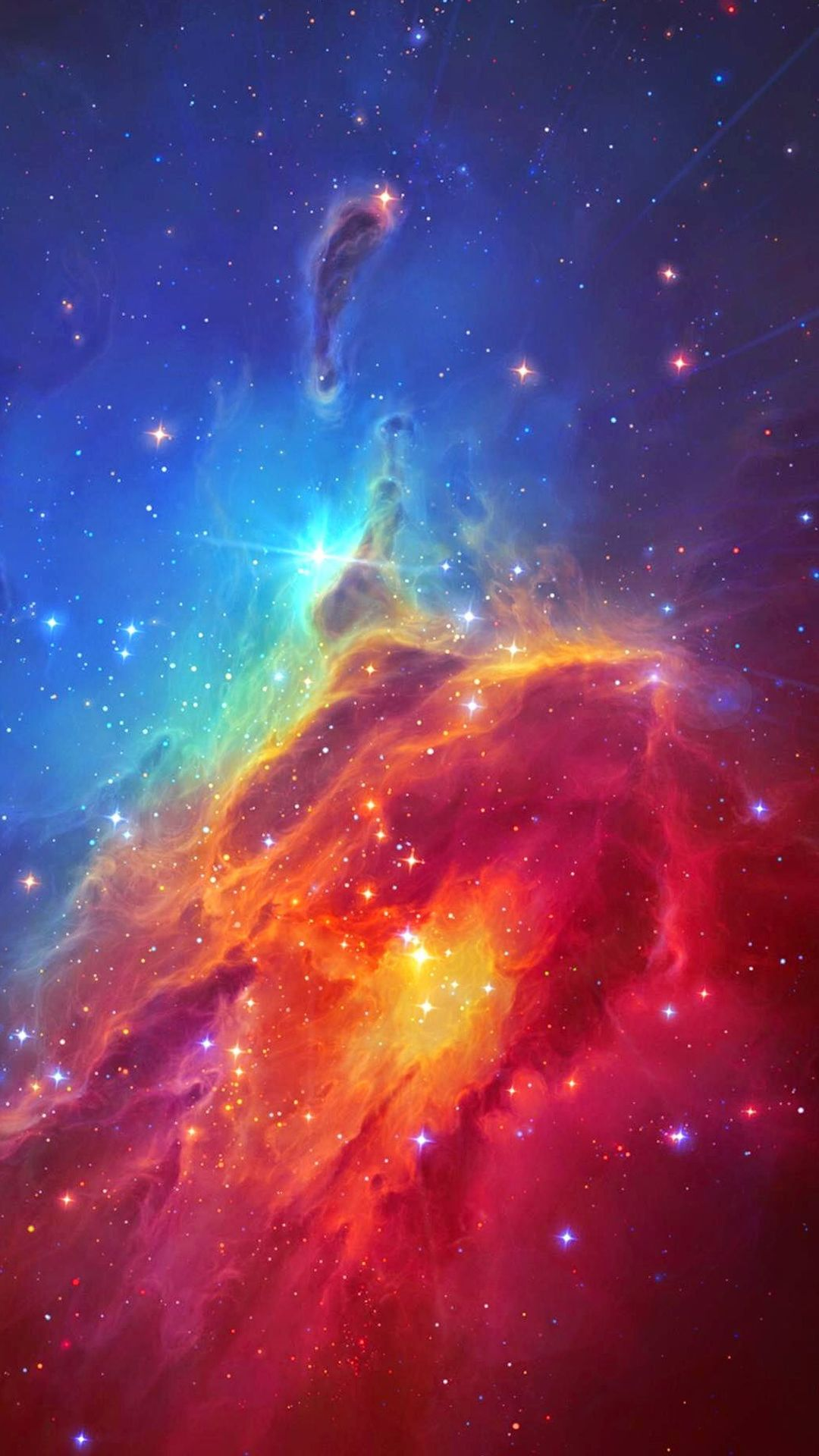 Stunning Colorful Space Nebula IPhone 7 Wallpaper