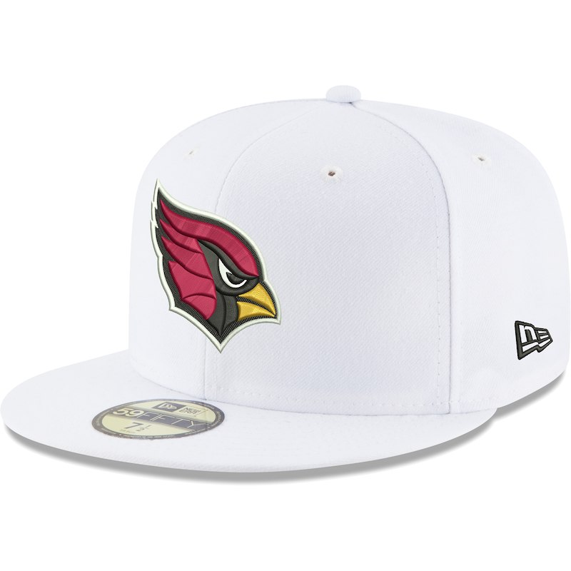 Arizona Cardinals New Era Omaha 59FIFTY Fitted Hat - White ... 06d10aaaa
