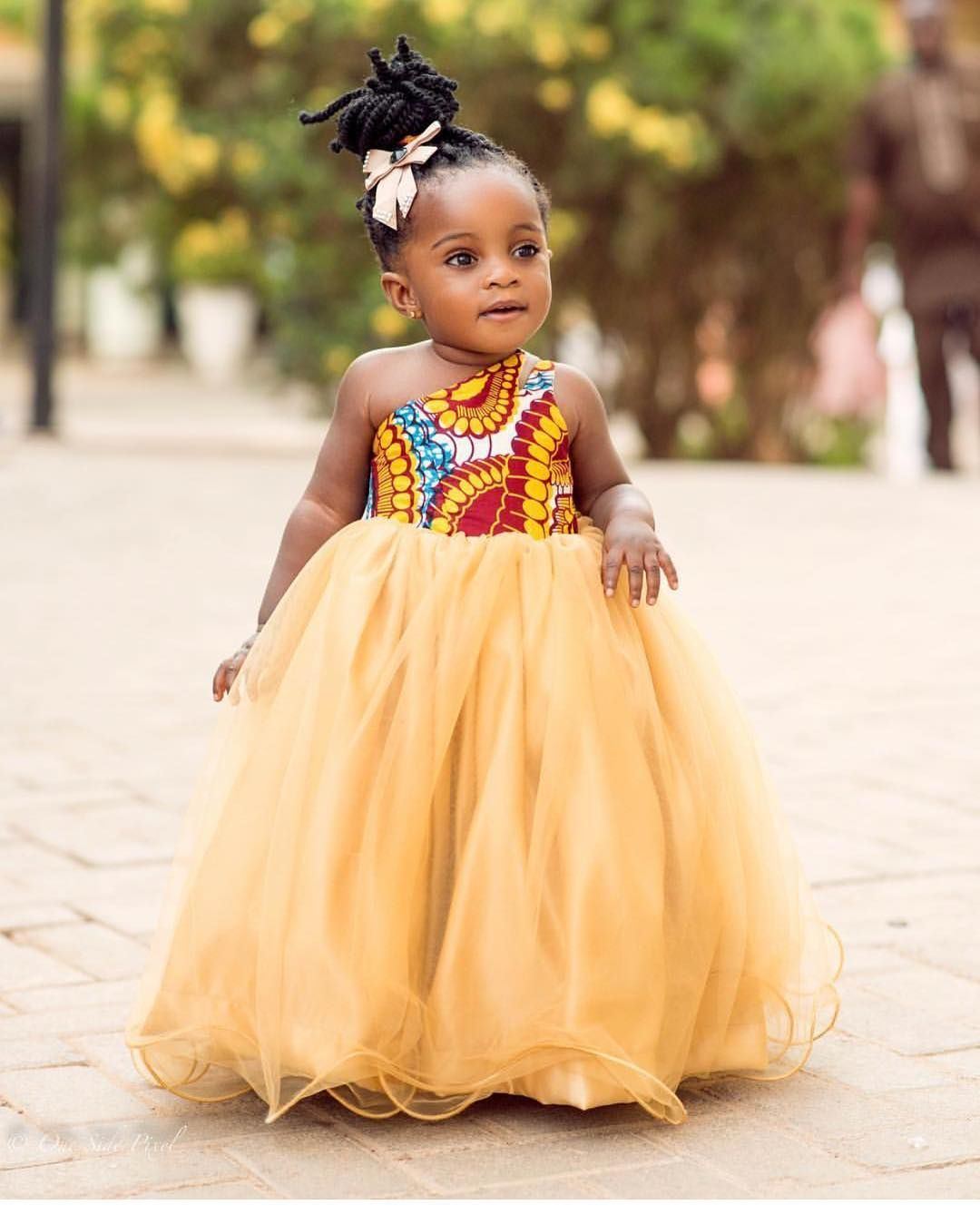 African wedding dresses for guests  The cutest guest  Captured by onesidepixel