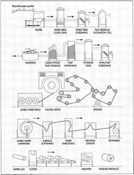 Process flow sheets: Toilet paper production process