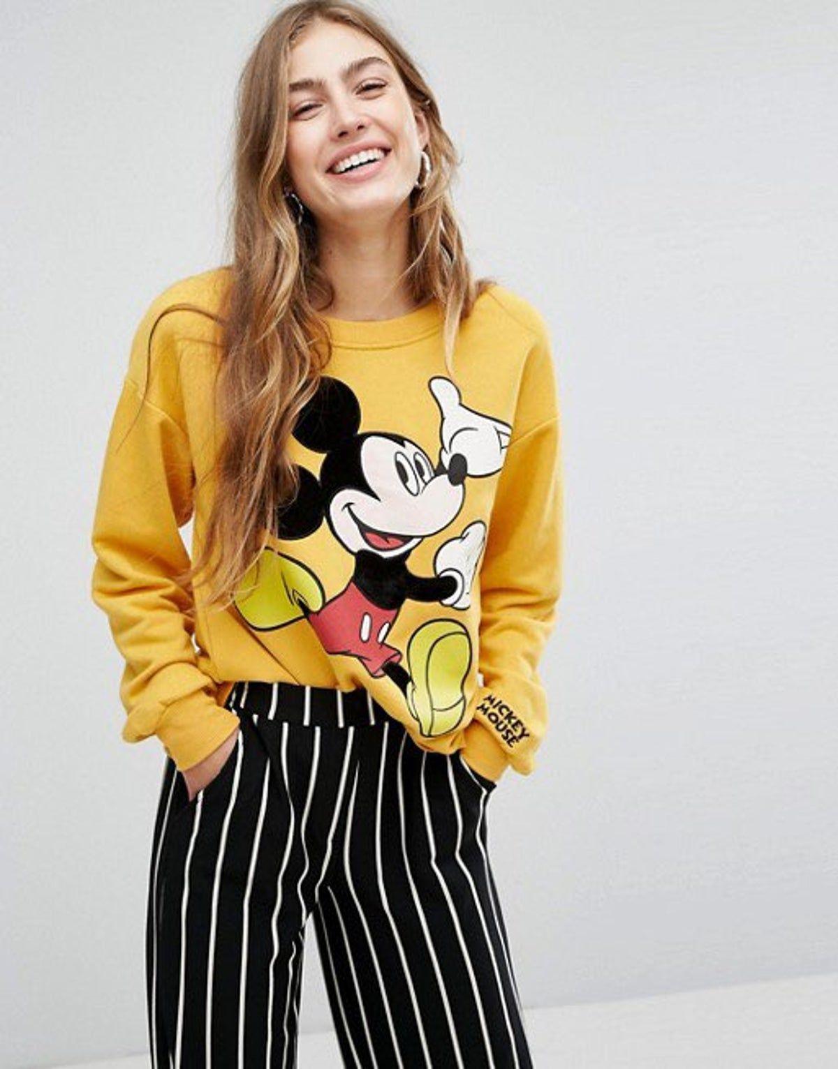 Bershka Mickey Mouse Sweatshirt Mickey Mouse Sweatshirt Mickey Mouse Outfit Cute Disney Outfits