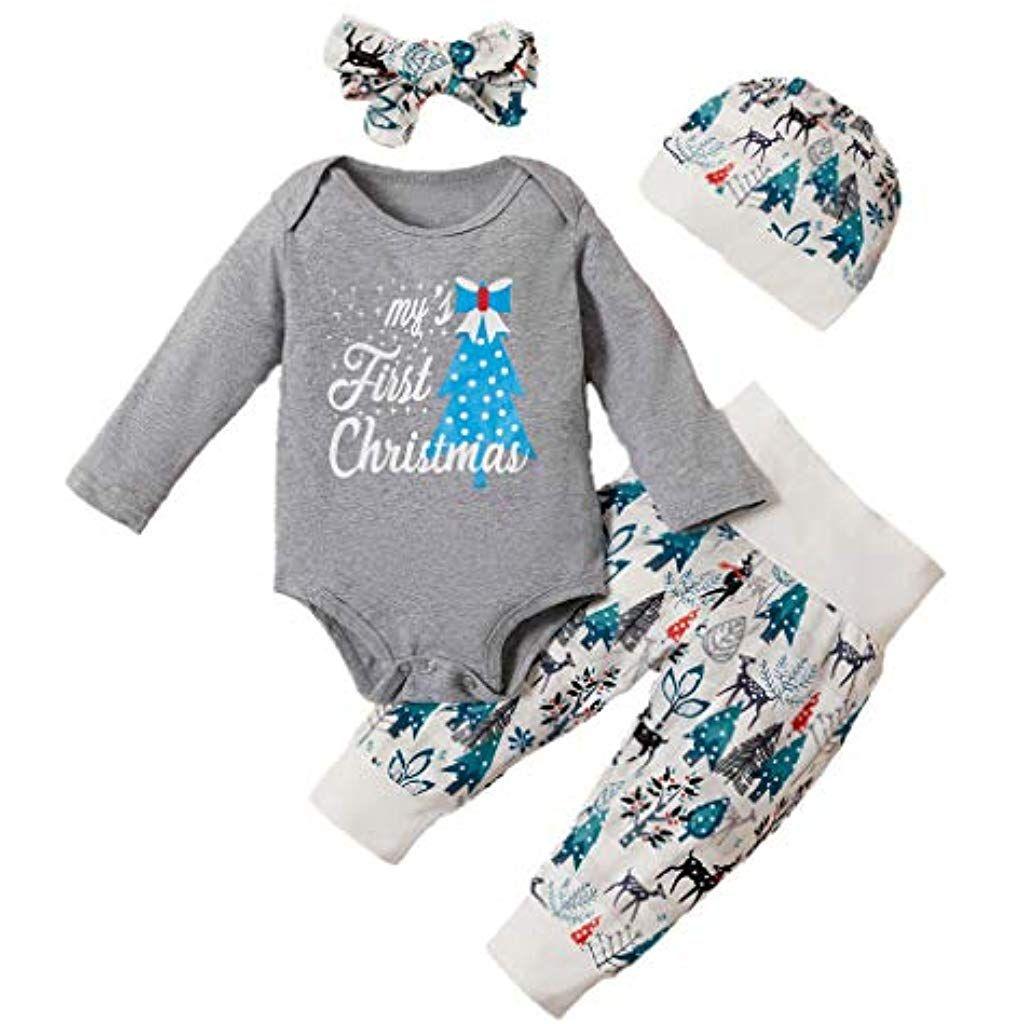 Kleinkind Baby Mädchen Kleinkind 0-24 Monate Strampler Hosen 2 Stücke  Sets