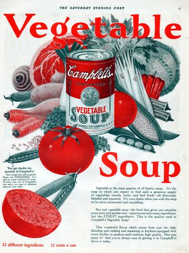 1926 Campbellu0027s Vegetable Soup Ad.