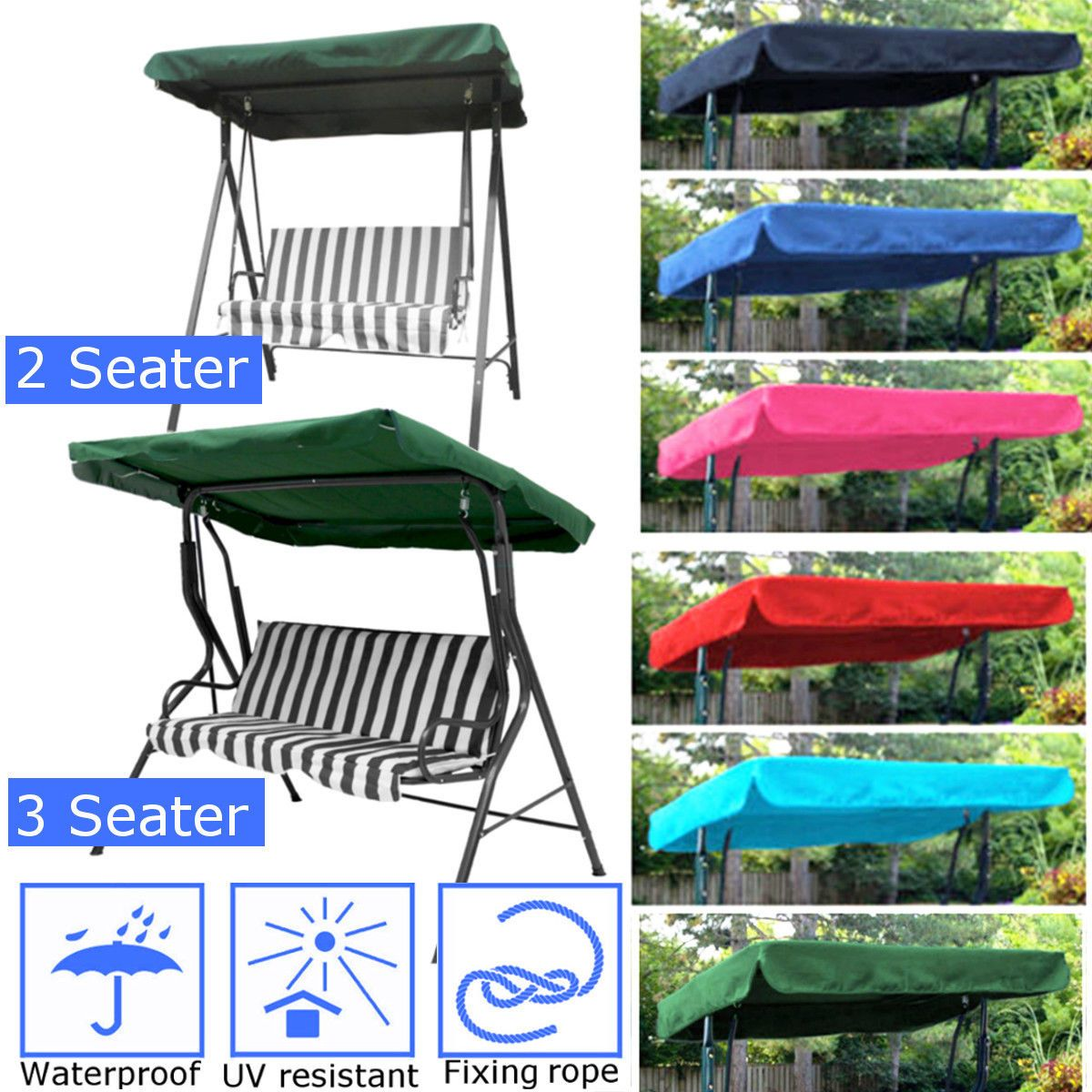 u seater sizes spare cover replacement canopy swing seat for