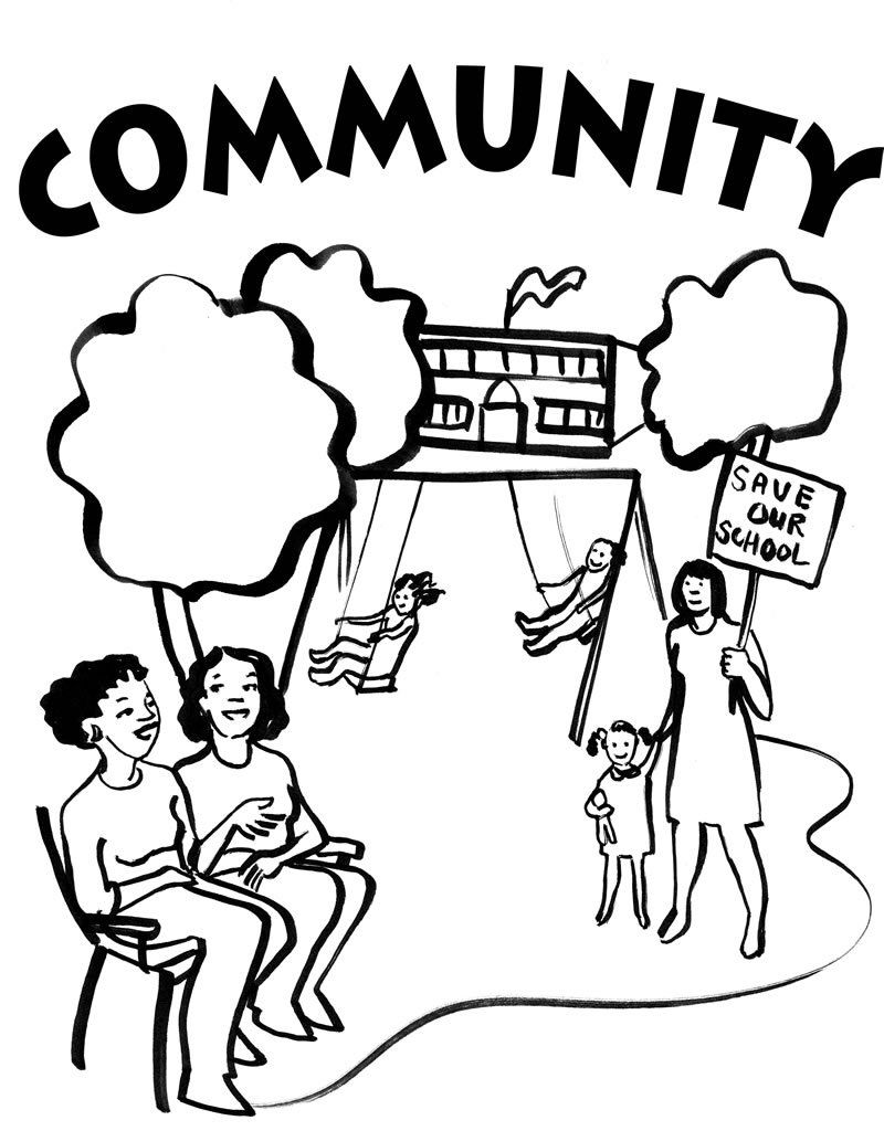 Community Coloring pages | People Power Coloring Pages | Pinterest ...