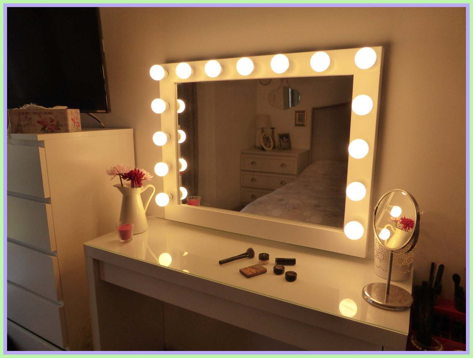97 Reference Of Vanity Mirror Makeup Lights In 2020 Lighted Vanity Mirror Diy Vanity Mirror Diy Vanity Mirror With Lights
