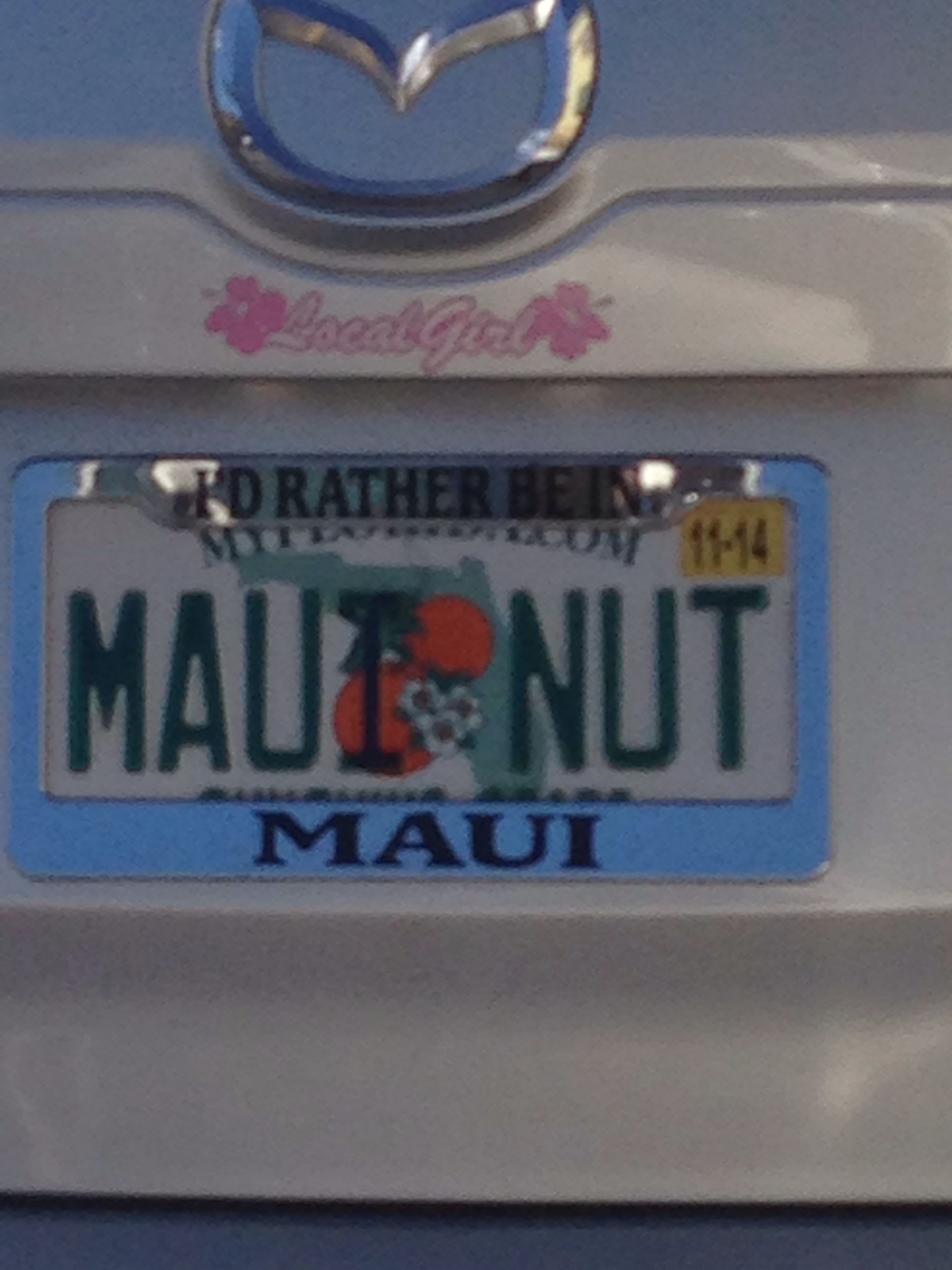 Maui Nut Plate Vanity License Plates Cool License Plates Vanity Plate [ 3264 x 2448 Pixel ]