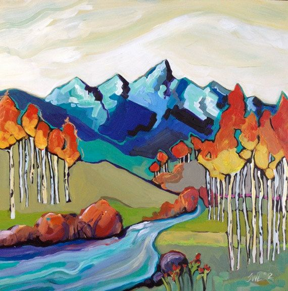 Bt Painting Mountain Painting Acrylic Painting Abstract