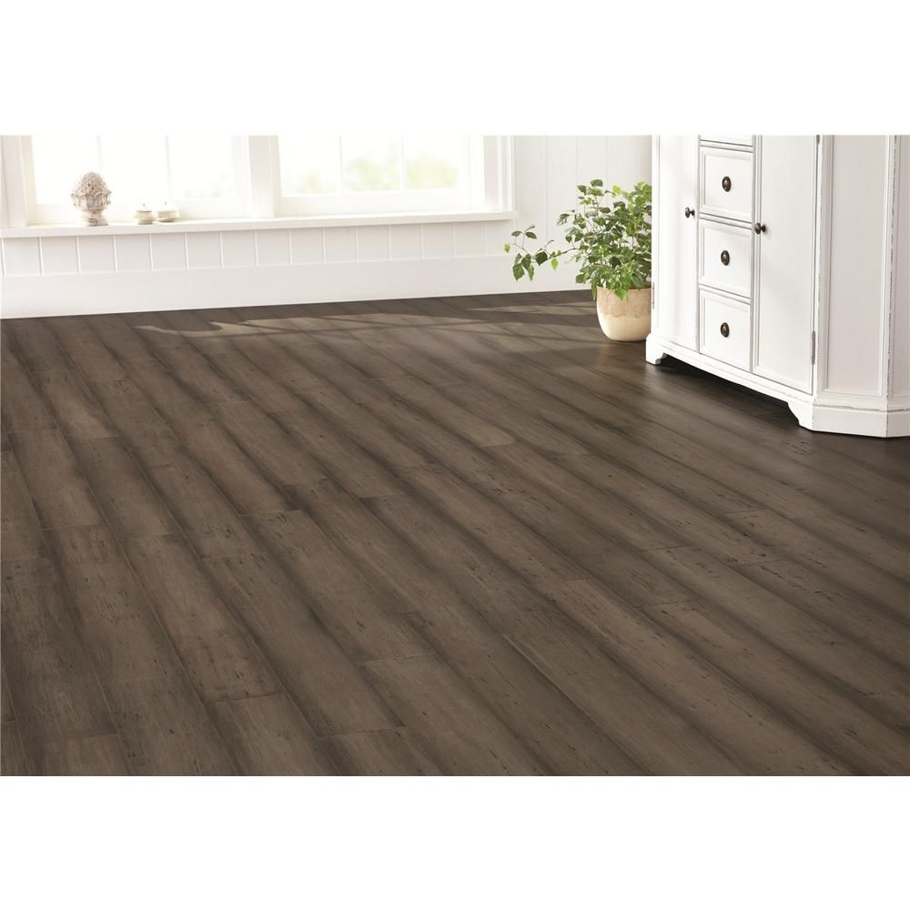 Handscraped strand woven warm grey 3 8 in x 5 1 8 in w for Hardwood floors tacoma