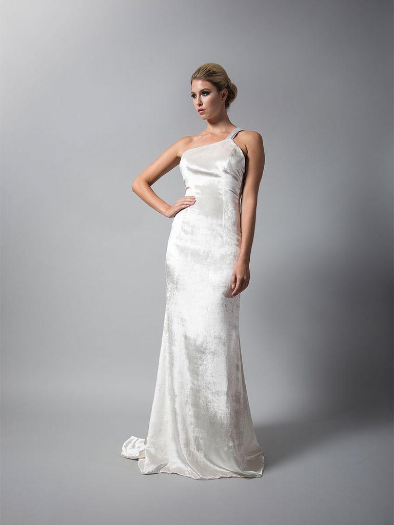 See Rivini Wedding Dresses From Bridal Fashion Week Wedding Dress Trends Bridal Fashion Week One Shoulder Wedding Dress [ 1024 x 768 Pixel ]