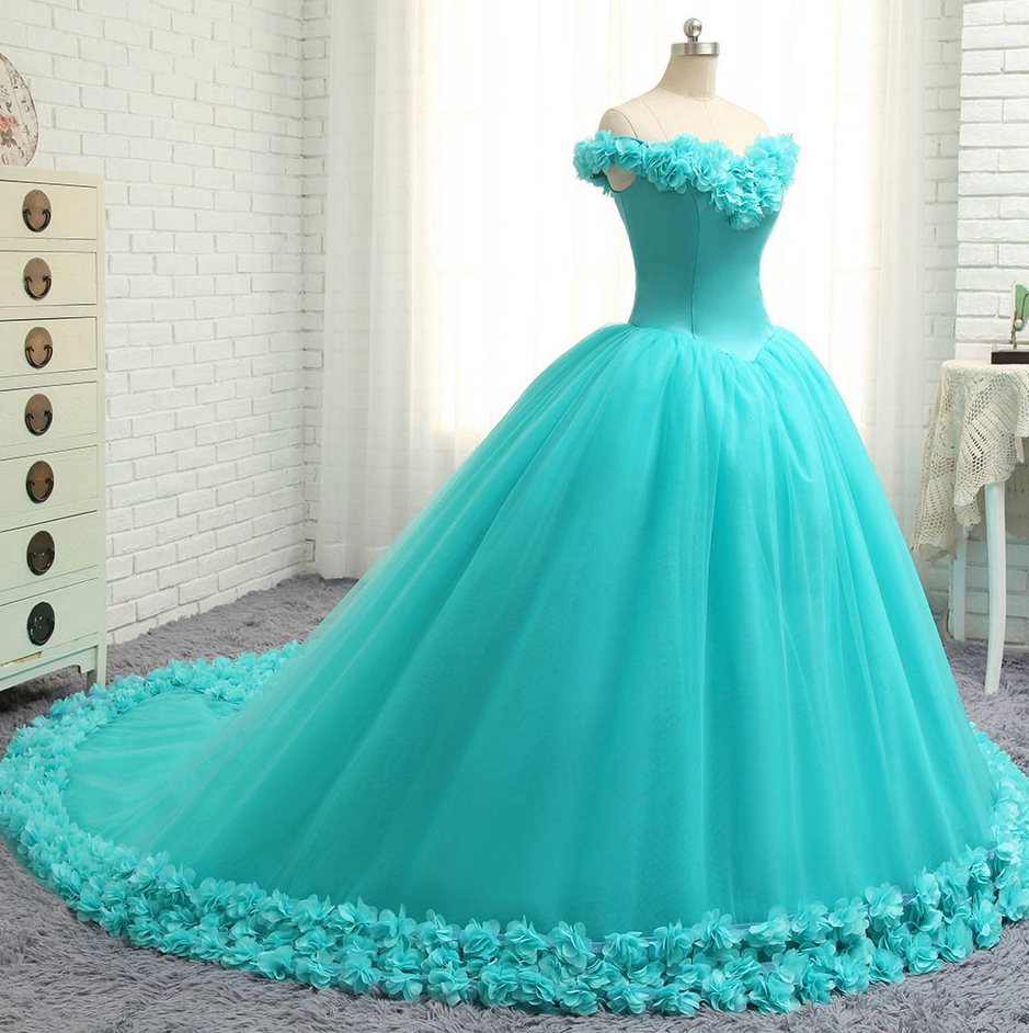Floral wedding dress ball gown pink bridal gowns prom party gown
