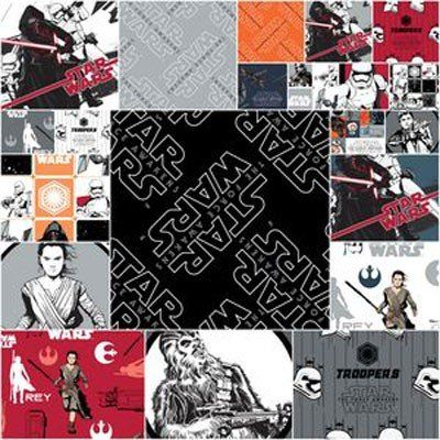 Star Wars//Darth Vadar 100/% Cotton Fat Quarter Bundle 4 Fabrics Craft//Quilting