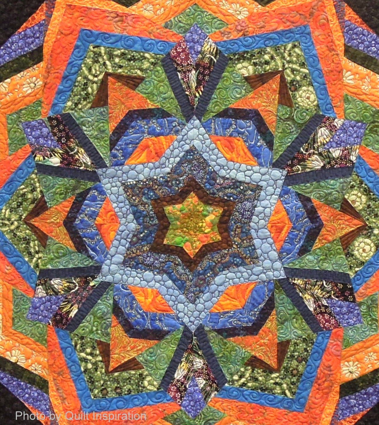 Kaboom! by Donna Brooks, kaleidoscope design by Ricky Tims. 2014 ... : ricky tims quilt patterns - Adamdwight.com