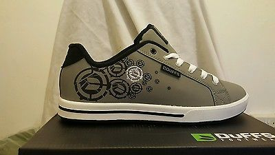 Duffs Mens Spectrum Trainers Grey Black Size 9 Large New Mens Outfits Men Trainers