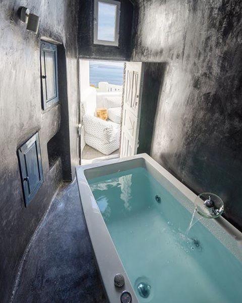 Bathroom Goals Mykonos Greece Saltescape Via Pinterest Spa