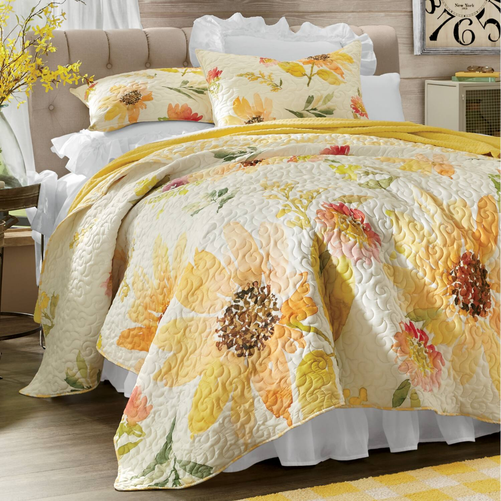 Delilah Oversized Quilt And Sham Montgomery Ward In 2020 Oversized Quilt Textured Bedding Country Door