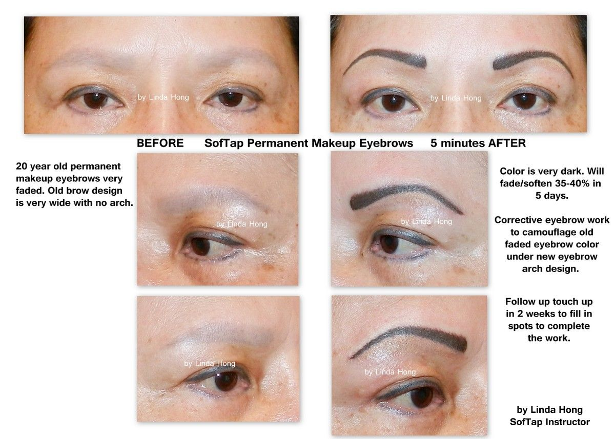 SofTap permanent makeup eyebrows and corrective camouflage