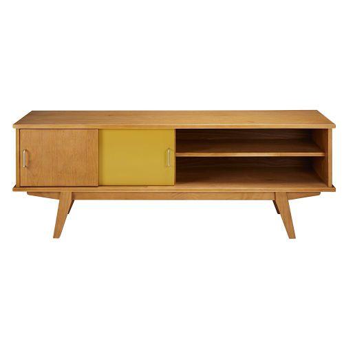 7ebb4dfa1c125 Mueble de TV vintage con 2 puertas tricolor