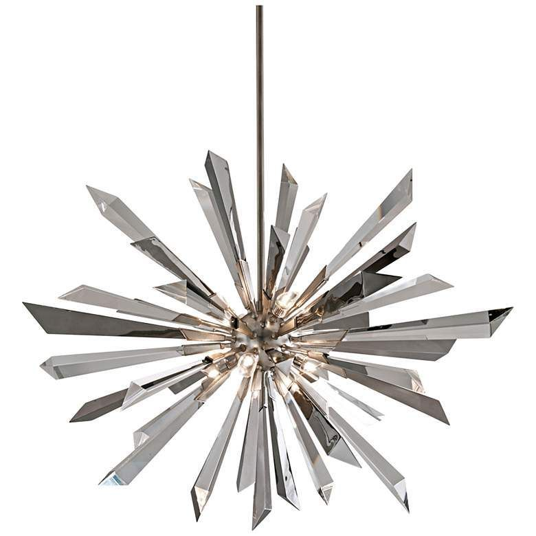 Corbett Lighting Inertia 48 Wide Modern Starburst Crystal