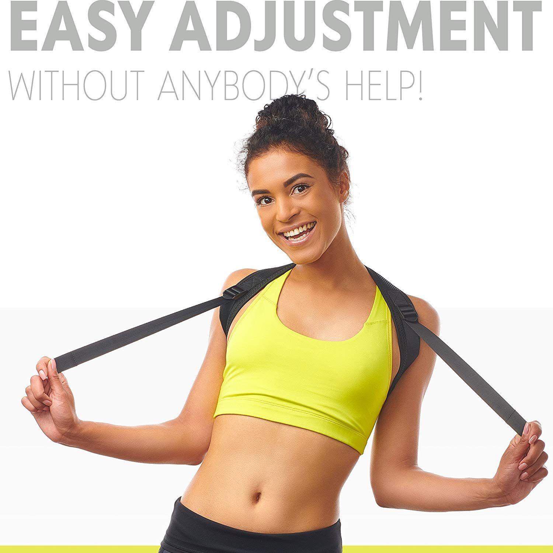 Comfortable Posture Trainer for Spinal Alignment /& Posture Support Posture Corrector for Women /& Men Posture Brace Adjustable Back Straightener Discreet Back Brace for Upper Back Pain Relief